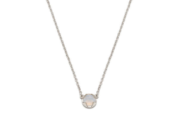 Load image into Gallery viewer, Rosecut Blue Chalcedony Necklace