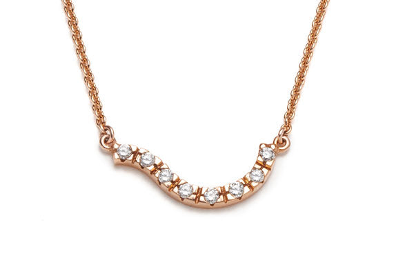 Collier Vague avec Diamants