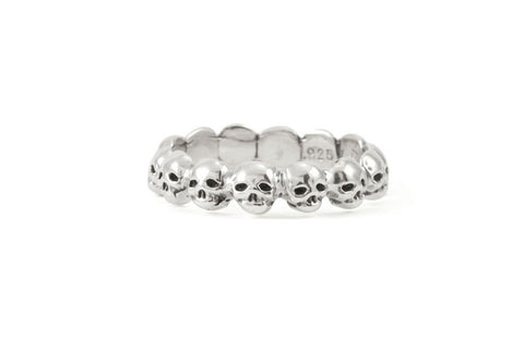 Sterling Silver Memento Mori Ring: Atelier LAF