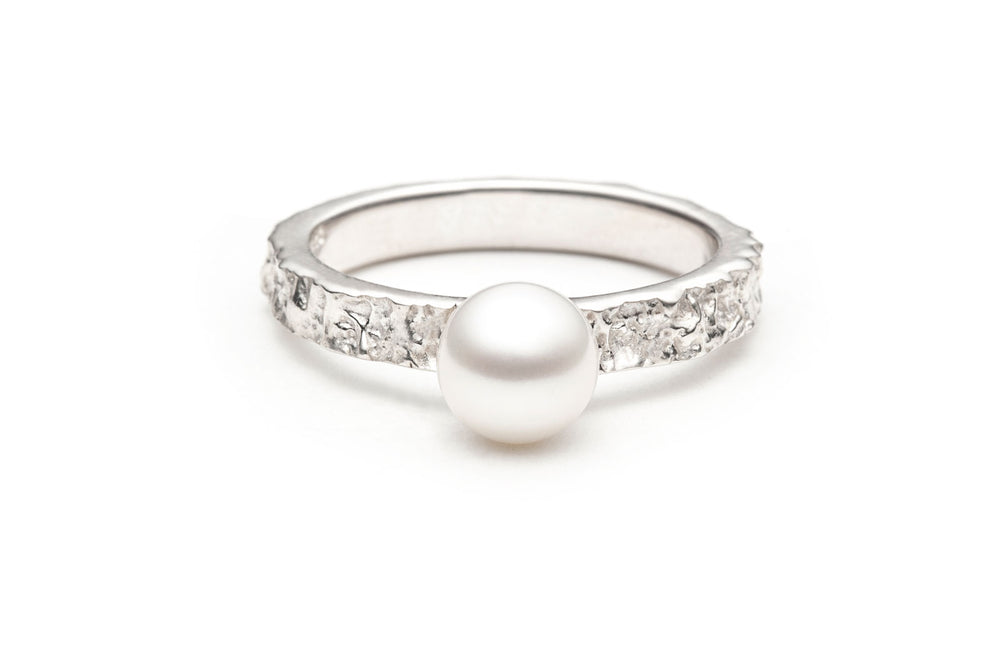 Mineral Pearl Ring Size 9.5