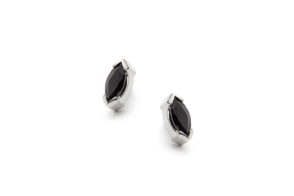Petite Marquise Earrings in Silver