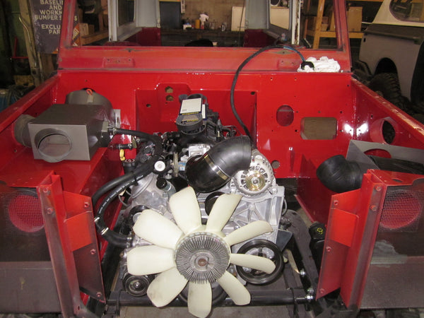 Scout 800 Engine Compartment