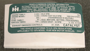 Emissions Control Decal - Scout II