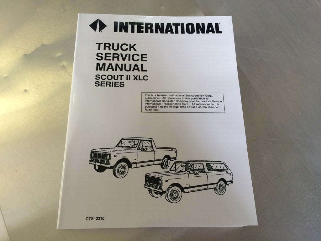 service manuals anything scout rh anythingscout com Scout 800 Interior international scout 800 service manual