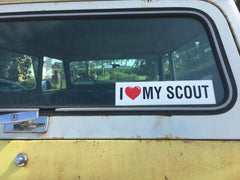 """I LOVE MY SCOUT"" STICKER"