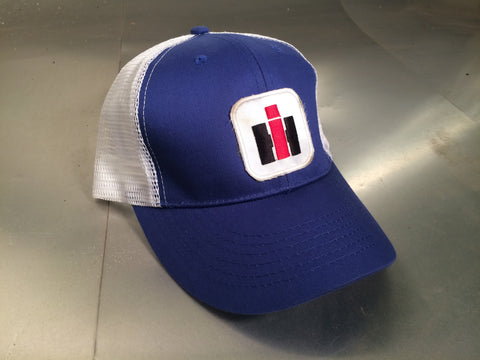 "Trucker Style Hat ""IH"" Patch - Blue"