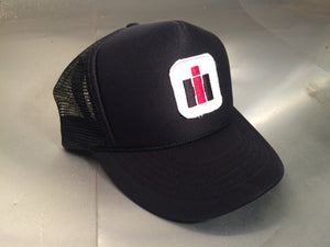 "Trucker Style Hat ""IH"" Patch - Black"