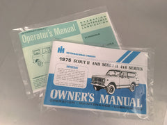IH Scout Owner's Manual