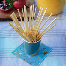 Load image into Gallery viewer, 20-Pack All Natural Wheat Disposable Sipping Straws - GUUD Products
