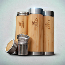 Load image into Gallery viewer, 12oz Ultimate Insulated Bamboo Bottle