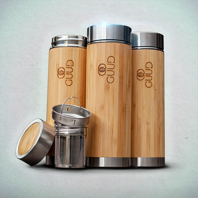 12oz Ultimate Insulated Bamboo Bottle