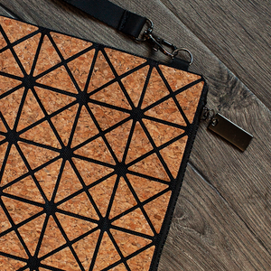 Natural Cork Prismatic Geometric Bag - GUUD Products