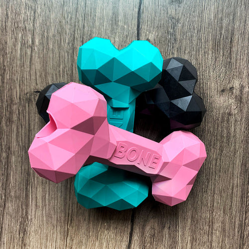 Natural Rubber Geometric Dog Bone | LRG/SML - GUUD Products