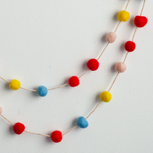 Load image into Gallery viewer, Handmade Felt Garland | Red, Yellow and Blue - GUUD Products