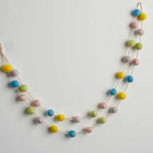 Handmade Felt Garland | Pastel Colors - GUUD Products