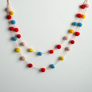 Handmade Felt Garland | Red, Yellow and Blue - GUUD Products