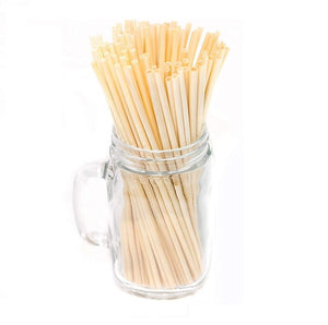 20-Pack All Natural Wheat Disposable Sipping Straws - GUUD Products