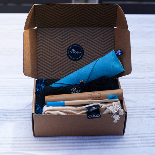 The Little GUUD Box | The Essential Zero Waste Gift Set in BLUE