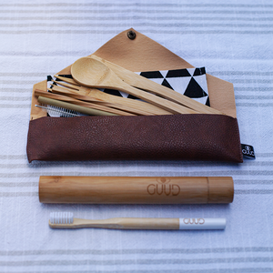 The Little GUUD Box | The Essential Zero Waste Gift Set in BROWN