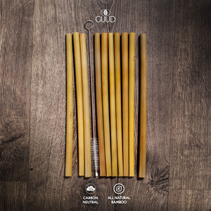 10 Pack All Natural Bamboo Straws - GUUD Products