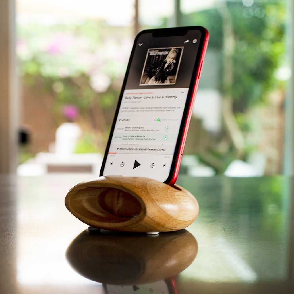 Handmade Acoustic Speaker & Mobile Phone Stand/Dock - GUUD Products