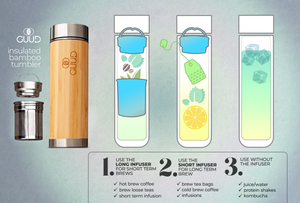 12oz Ultimate Insulated Bamboo Bottle - GUUD Products
