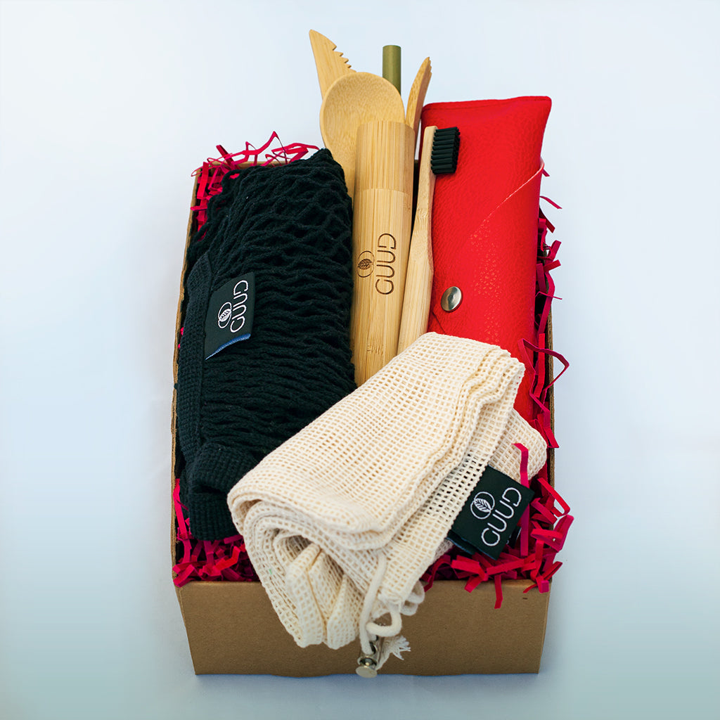The Little GUUD Box | The Essential Zero Waste Gift Set | Red or Aqua Blue - GUUD Products