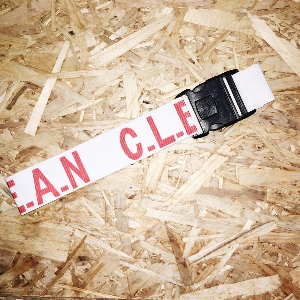 C.L.E.A.N LOGO Belt Red
