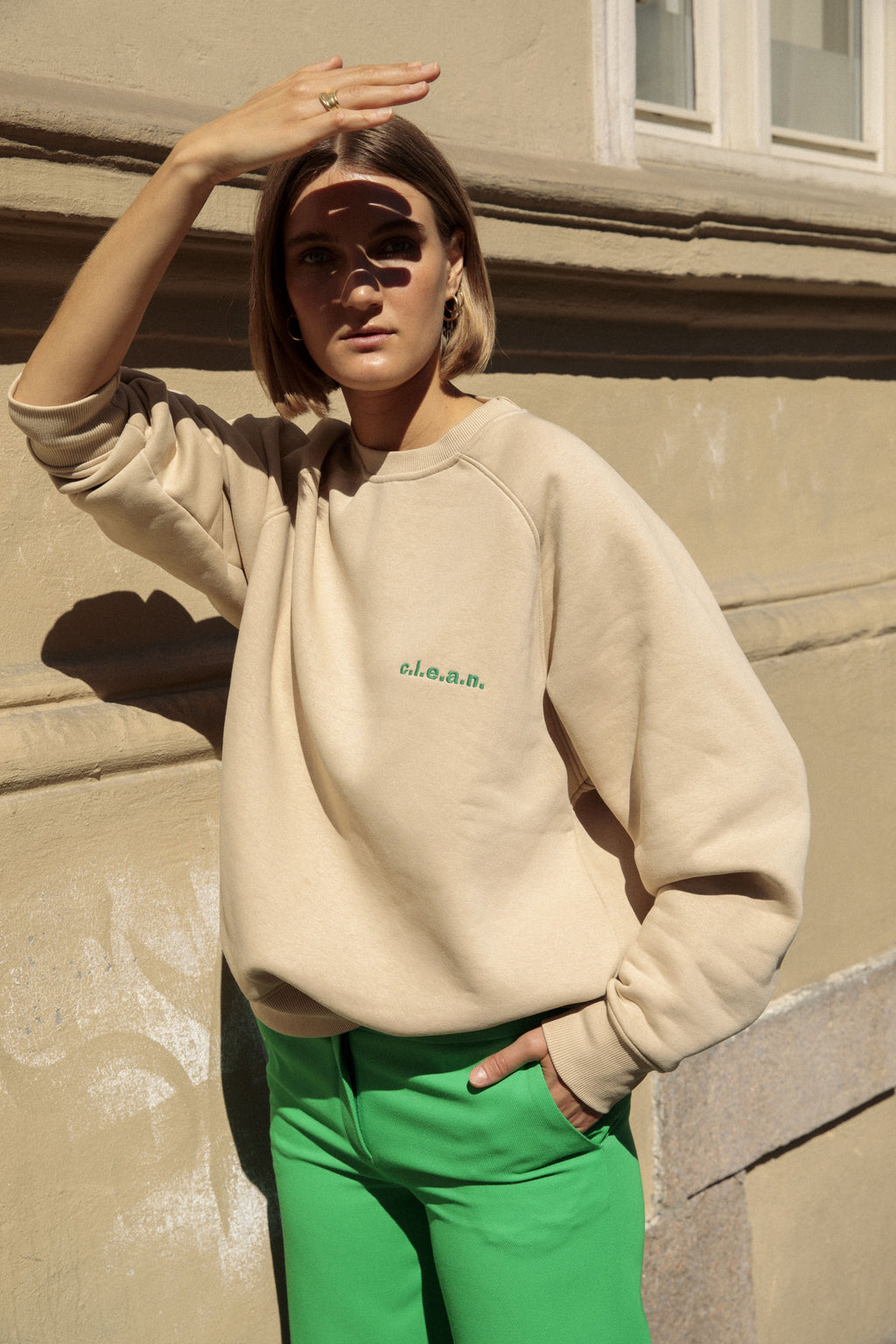 Mini Logo Sweat Beige