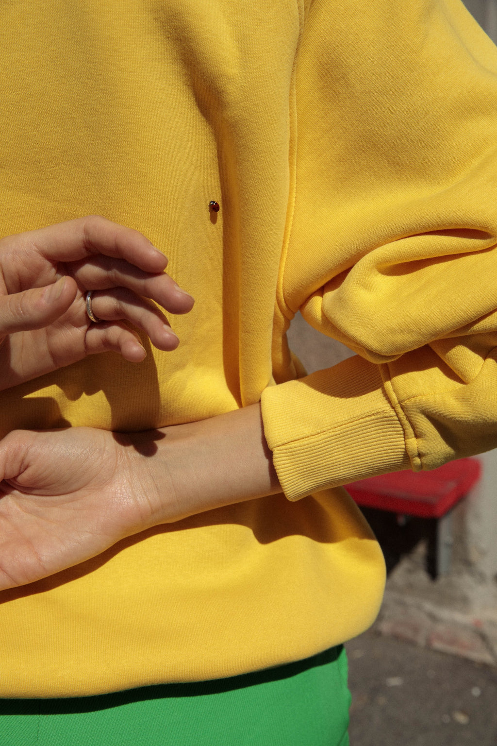 Mini Logo Sweat Yellow