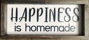 Happiness Farmhouse Framed Sign