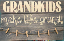 Load image into Gallery viewer, Grandkids Make Life Grand photo board