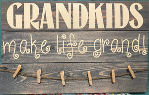 Grandkids Make Life Grand photo board