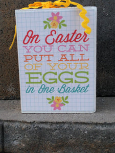 Easter Block Eggs in the Basket