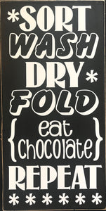 Laundry Chocolate sign