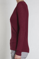 Plush Classic Long Sleeve Tee - RUBY