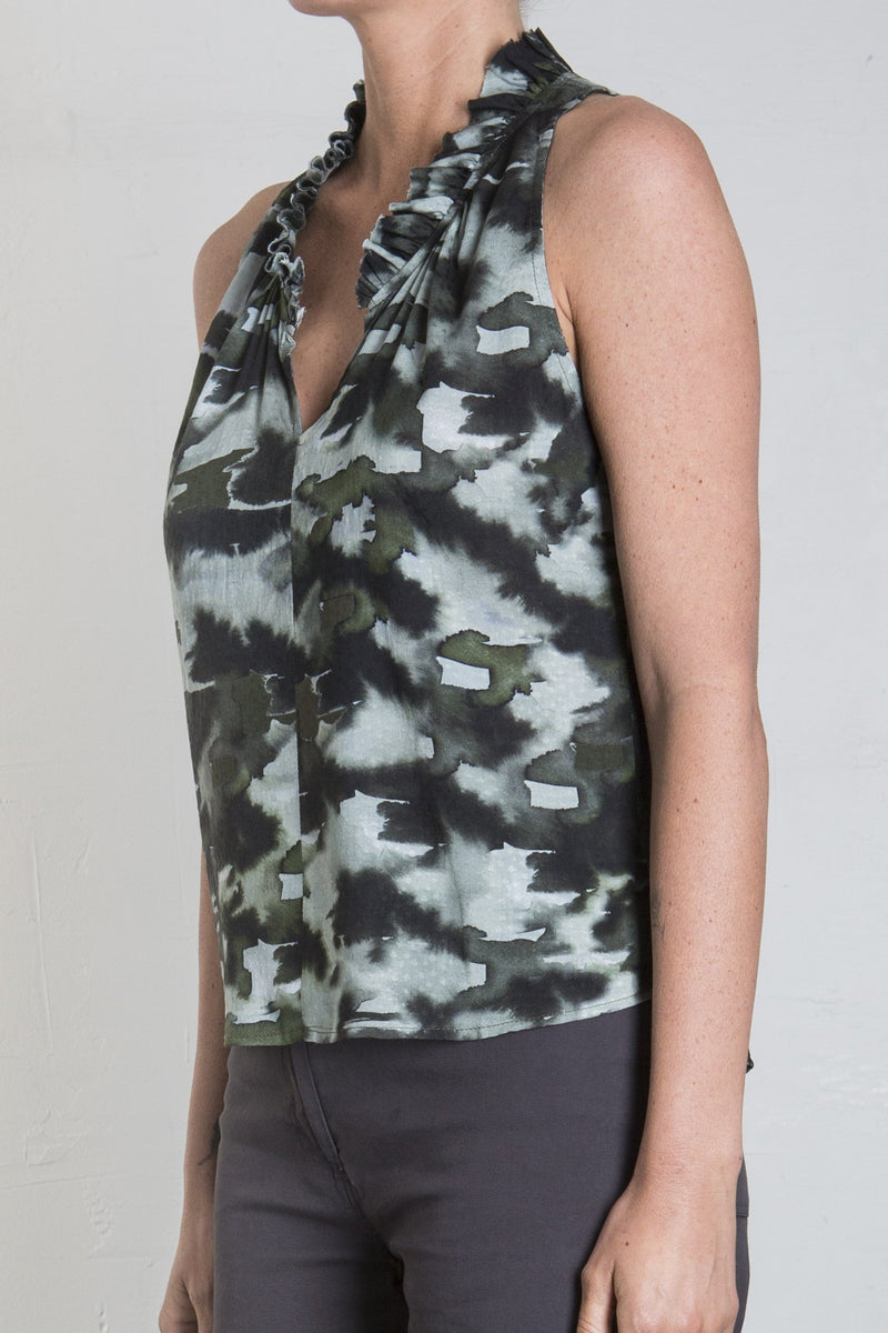 Pharaoh Knightly Printed Top - Camo