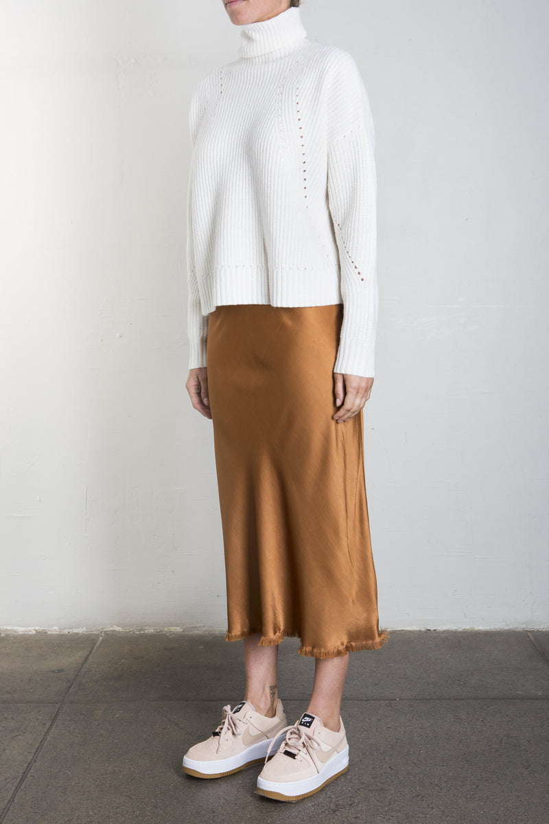 Riley Vintage Satin Skirt - Toffee