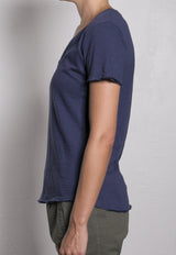 Supima Slub V-Neck  / Blueberry