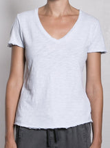 Supima Slub V-Neck  / Sky