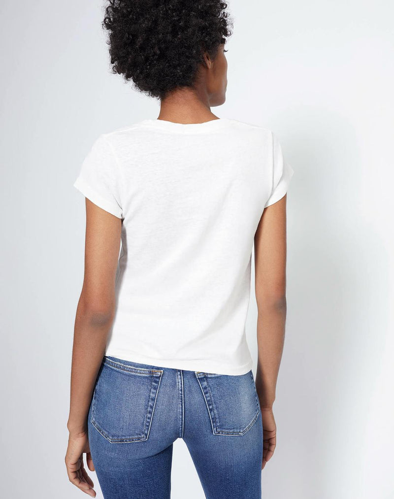 RE/DONE 1960s X HANES Slim Tee - Vintage White