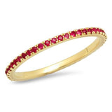 Eriness Ruby Eternity Band