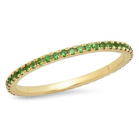 ERINESS TSAVORITE ETERNITY BAND