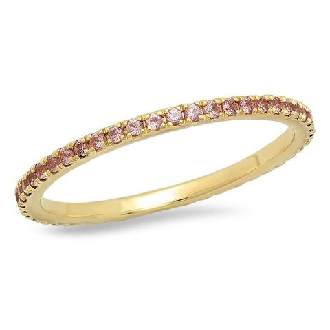 Eriness Pink Sapphire Eternity Band