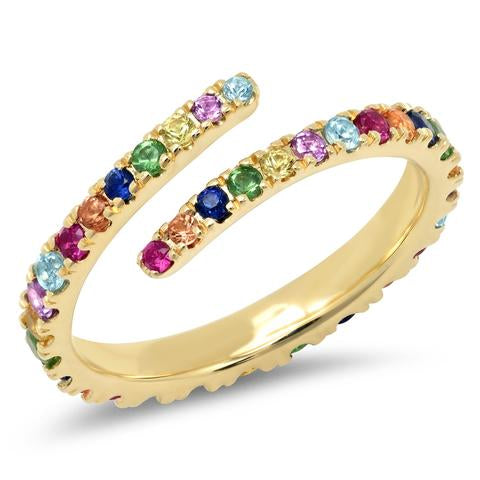 Eriness Multi Colored Wrap Ring