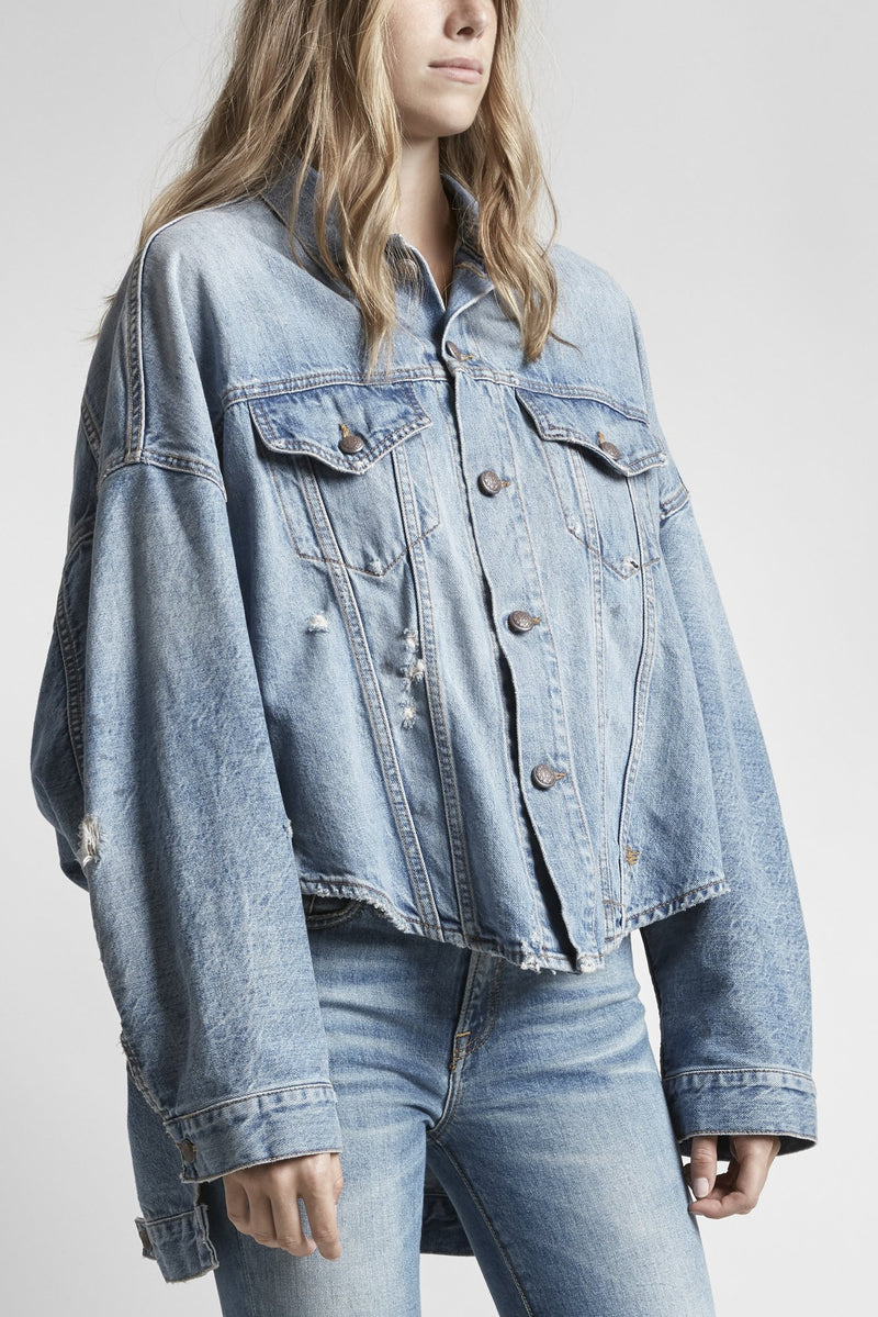 R13 MAX OVERSIZED TRUCKER JACKET - HOLLY