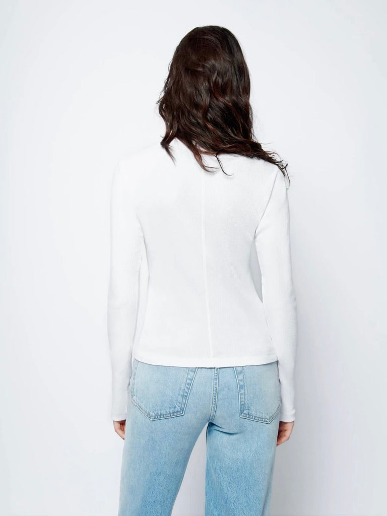 RE/DONE 60s Ribbed Long Sleeved Tee - White