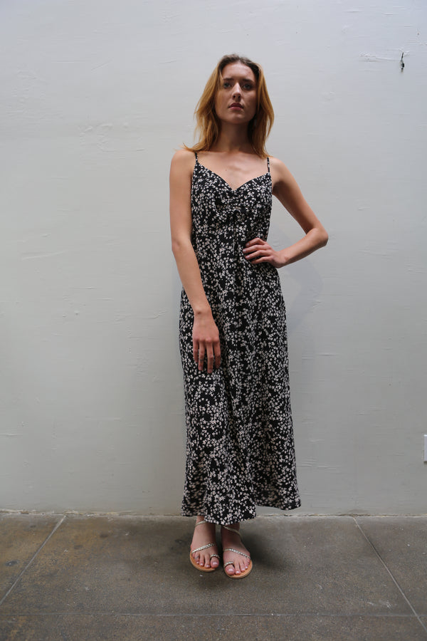 Asti Cami Dress - Black Floral
