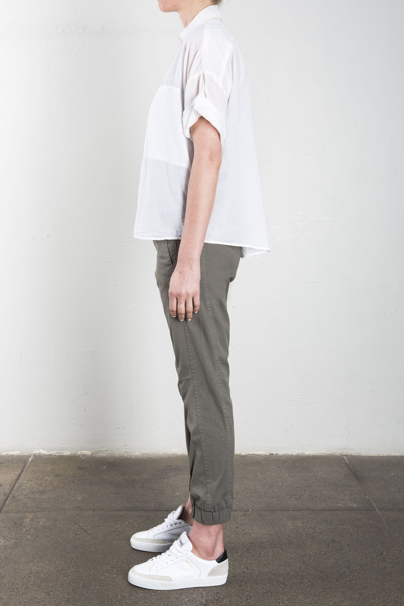 Danny  Twisted Sleeve Shirt in Japanese Cotton - White