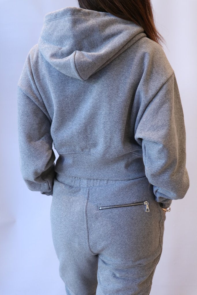 John Elliott Boca Zip Hoodie - Heather Grey